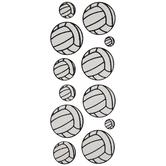 Volleyball Glitter Stickers