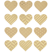 Gold Foil Heart Stickers