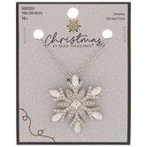 Snowflake Rhinestone Necklace