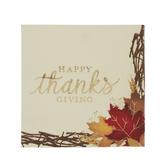 Happy Thanksgiving Foil Napkins