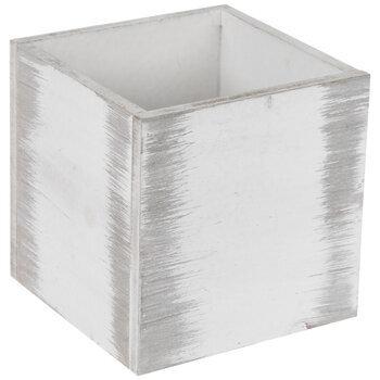 Whitewash Wood Container
