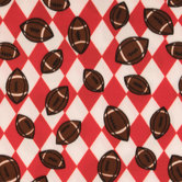 Footballs Fleece Fabric