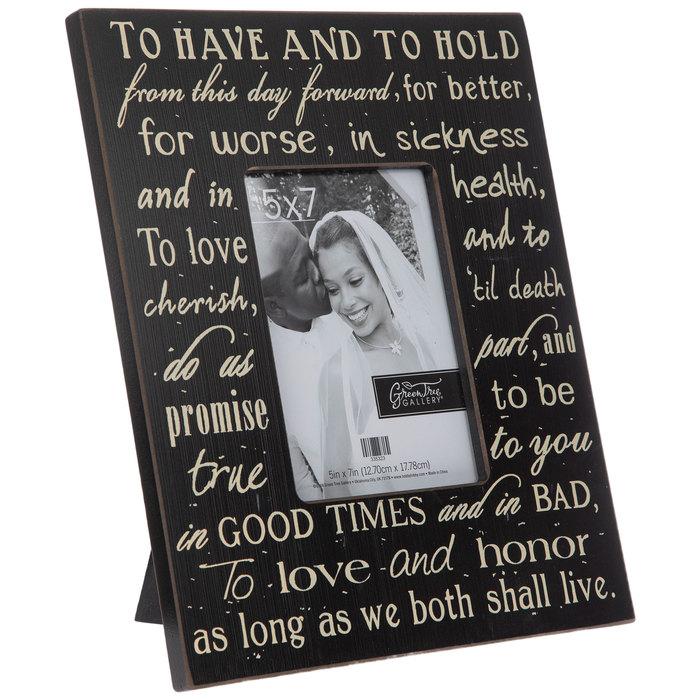 Wedding Vows Wood Frame 5 X 7 Hobby Lobby 335323