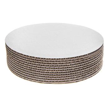 "White Round Cake Boards - 8"""