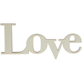Love Wood Cutout