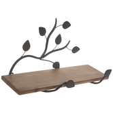 Leaf & Branch Wood Wall Shelf