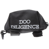 Black Doo Diligence Pet Leash Bag