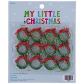 Mini Tinsel Wreath Ornaments