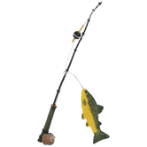 Miniature Fishing Pole With Fish