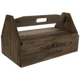 Farmer's Market Wood Caddy