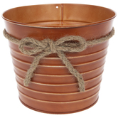 Ribbed Metal Container With Jute