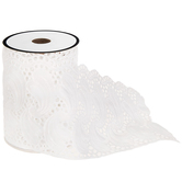 White Feather Decorative Trim - 3 1/2""