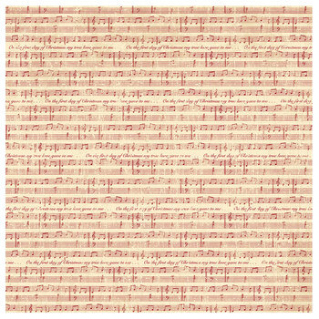 Christmas Sheet Music Scrapbook Paper 12 X 12 Hobby Lobby 523613