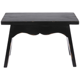 Black Distressed Wood Stool