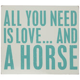 Love And A Horse Wood Decor