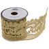 Gold Paisley Metallic Lace Trim - 2 1/4