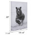Bear In Water Canvas Wall Decor