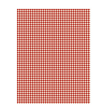 "Red Gingham Scrapbook Paper - 8 1/2"" x 11"""