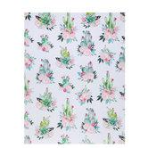 "Floral Cactus Scrapbook Paper - 8 1/2"" x 11"""