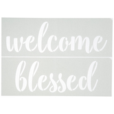 Welcome & Blessed Adhesive Stencil
