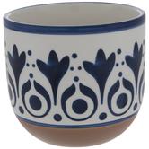 Blue & White Filigree Flower Pot