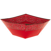 Red Bandana Paper Bowls