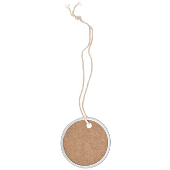 Round Silver Rim Tags With Twine