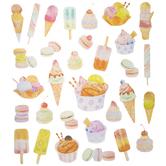 Ice Cream & Macarons Glitter Stickers