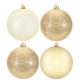 Light Gold Matte, Shiny & Glitter Ball Ornaments
