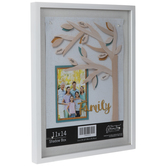 "White Wood Shallow Shadow Box - 11"" x 14"""