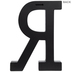 Black Letter Wood Wall Decor - R