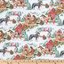 Snowy Horses Cotton Apparel Fabric