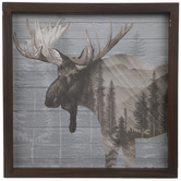 Moose Forest Wood Wall Decor