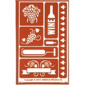 Wine Time Glass Etching Stencil