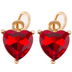 Red Rhinestone Heart Charms