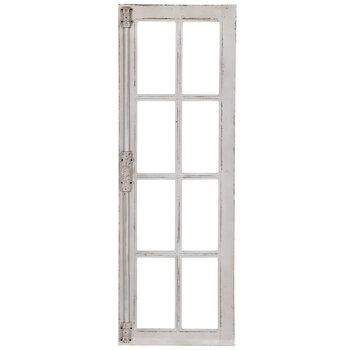 Distressed White Window Wood Wall Decor