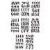 Pastel Yellow Handwritten Alphabet Stickers