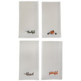 Fall Embroidered Cloth Napkins