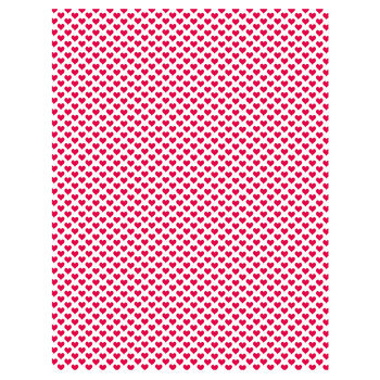"Tiny Red Hearts Scrapbook Paper - 8 1/2"" x 11"""