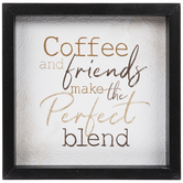 Coffee & Friends Wood Wall Decor