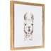 Sketched Llama Framed Wall Decor