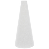 "White CraftFoM Foam Cone - 3 3/4"" x 8 15/16"""