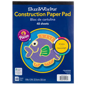 "Construction Paper Pad - 9"" x 12"""