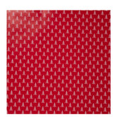 Red & White Stitched Trees Gift Wrap