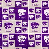 Kansas State Block Collegiate Cotton Fabric