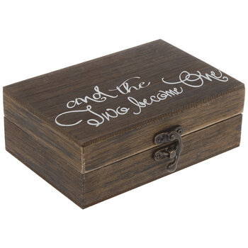 Two Become One Wood Ring Box
