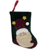 Mini Velvet Santa Stocking