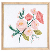 Pink Floral Canvas Wall Decor