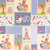 Bazooples Blocks Cotton Calico Fabric