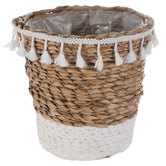 Woven Flower Pot With Fringe